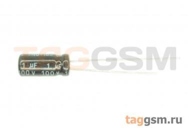 Конденсатор электролитический 1мкФ 100В 20% 105°C (5х11мм)