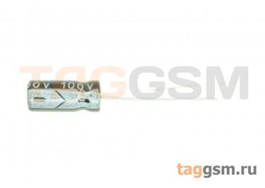 Конденсатор электролитический 2,2мкФ 100В 20% 105°C (5х11мм)