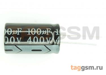 Конденсатор электролитический 100мкФ 400В 20% 105°C (18х32мм)
