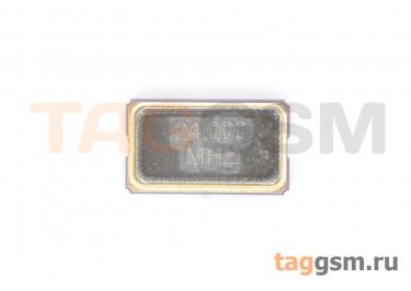 Кварцевый резонатор 24 МГц (SMD6035)