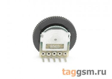 R1001G-B503-16 / 2 Резистор переменный сдвоенный с ручкой 16мм 50 кОм 20% тип-B