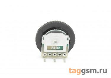 R1001NS-B102-16 / 2 Резистор переменный с ручкой 16мм 1 кОм 20% тип-B