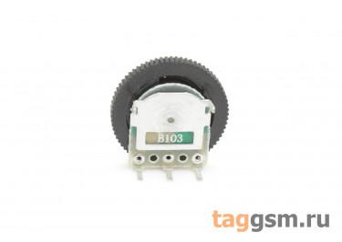 R1001NS-B103-16 / 2 Резистор переменный с ручкой 16мм 10 кОм 20% тип-B
