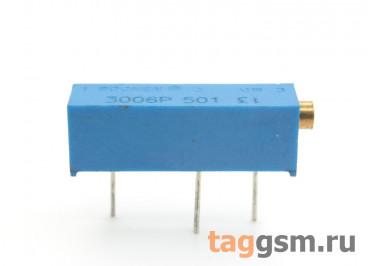 3006P-501 Резистор подстроечный многооборотный 500 Ом 10%