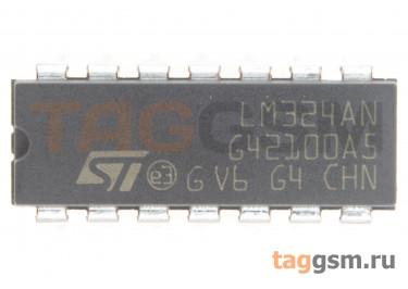 LM324AN (DIP-14) Счетверённый операционный усилитель