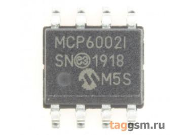 MCP6002T-I / SN (SO-8) Сдвоенный операционный усилитель с низким потреблением