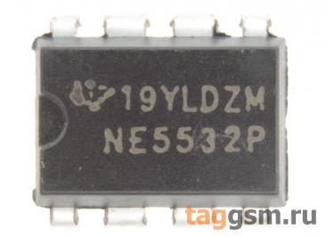NE5532AP (DIP-8) Сдвоенный малошумящий операционный усилитель