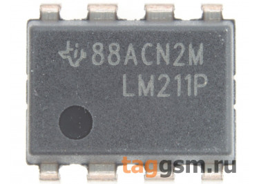 LM211P (DIP-8) Компаратор со стробирующим входом