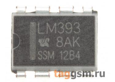 LM393N (DIP-8) Сдвоенный компаратор