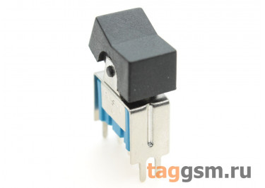 RLS-102-A2T Тумблер с кнопкой на плату вертикальный ON-ON SPDT 250В 3А