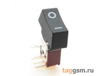 SRLS-102-C3H Тумблер с кнопкой на плату угловой ON-ON SPDT 250В 1,5А