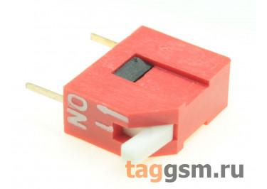 DS1040-01RT (Красный) DIP переключатель 1 поз. угловой 24В 0,1А