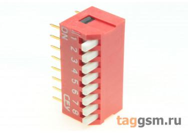 DS1040-08RT (Красный) DIP переключатель 8 поз. угловой 24В 0,1А
