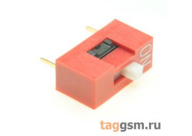 KF1001-01P-R0-FS (Красный) DIP переключатель 1 поз. 24В 0,025А