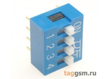 KF1001-04P-B0-GS (Синий) DIP переключатель 4 поз. 24В 0,025А