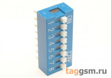 KF1001-08P-B0-GS (Синий) DIP переключатель 8 поз. 24В 0,025А