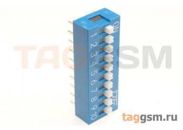 KF1001-10P-B0-GS (Синий) DIP переключатель 10 поз. 24В 0,025А