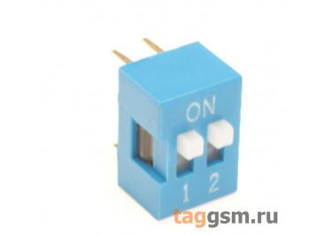KLS7-DS-02-B-00 DIP-переключатель 2 поз. 24В 0,025мА