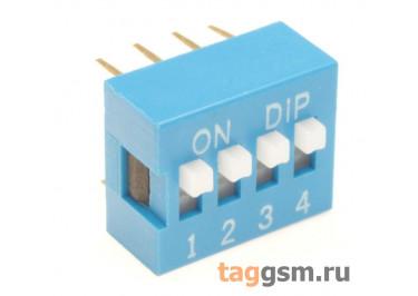 KLS7-DS-04-B-00 DIP-переключатель 4 поз. 24В 0,025мА