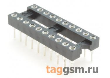 DS1001-01-20BT1NST1S-JKB (DIP-20) DIP панель 20 конт. цанговая ширина 7,62мм
