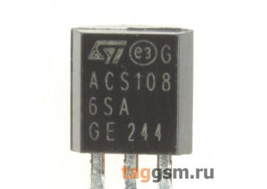 ACS108-6SA (TO-92) Симистор 0,8А 600В