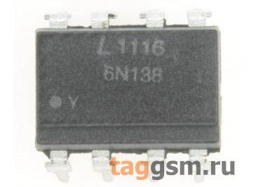 6N138 (DIP-8) Оптопара транзисторная