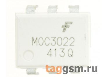 MOC3022M (DIP-6) Оптопара симисторная 400В