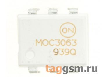 MOC3063M (DIP-6) Оптопара симисторная 600В