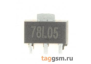 78L05 (SOT-89) Стабилизатор напряжения 5В 0,1А