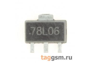 78L06 (SOT-89) Стабилизатор напряжения 6В 0,1А