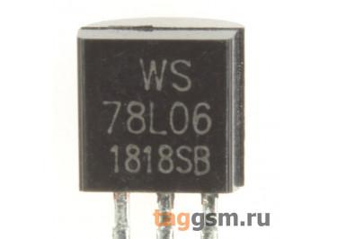 78L06 (TO-92) Стабилизатор напряжения 6В 0,1А