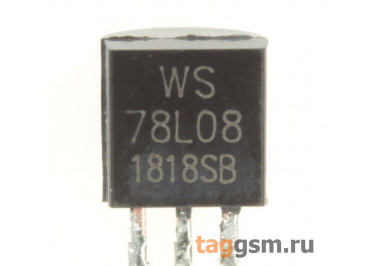 78L08 (TO-92) Стабилизатор напряжения 8В 0,1А
