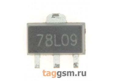 78L09 (SOT-89) Стабилизатор напряжения 9В 0,1А