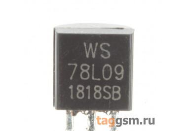 78L09 (TO-92) Стабилизатор напряжения 9В 0,1А
