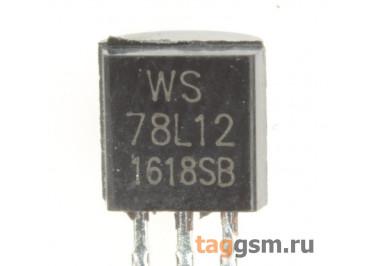 78L12 (TO-92) Стабилизатор напряжения 12В 0,1А