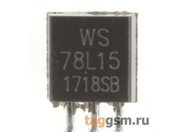 78L15 (TO-92) Стабилизатор напряжения 15В 0,1А