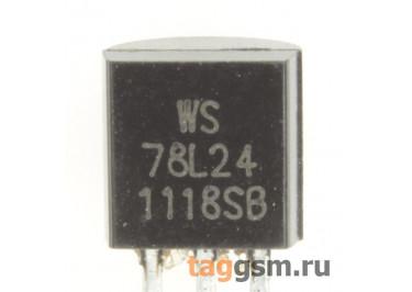 78L24 (TO-92) Стабилизатор напряжения 24В 0,1А