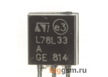 78L33 (TO-92) Стабилизатор напряжения 3,3В 0,1А