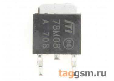 78M08 (D-PAK) Стабилизатор напряжения 8В 0,5А