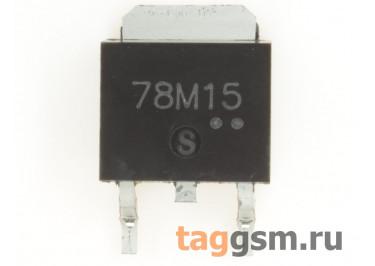78M15 (D-PAK) Стабилизатор напряжения 15В 0,5А