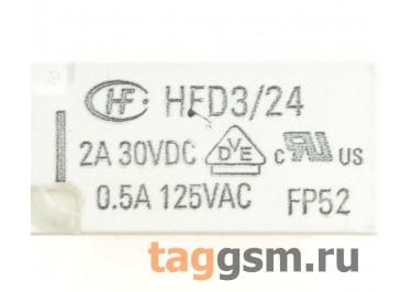 HFD3 / 24 Реле 24В DPDT [D3212 / 1-1462034-4]