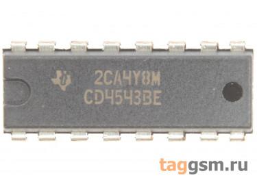 CD4543BE (DIP-16) Драйвер жидкокристаллического индикатора