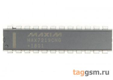 MAX7219CNG+ (DIP-24) Драйвер светодиодных индикаторов 8-разрядов ОК с последовательным интерфейсом