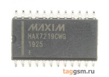 MAX7219CWG+T (SO-24) Драйвер светодиодных индикаторов 8-разрядов ОК с последовательным интерфейсом