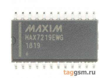 MAX7219EWG+ (SO-24) Драйвер светодиодных индикаторов 8-разрядов ОК с последовательным интерфейсом