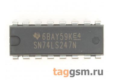 SN74LS247N (DIP-16) Драйвер / декодер семисегментного индикатора