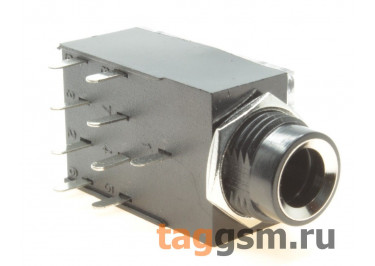 CK-6.35-106 Аудио разъем 6,3мм 3конт. гнездо на плату с переключателем DPDT