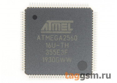 ATMEGA2560-16AU (TQFP-100) Микроконтроллер 8-Бит, AVR
