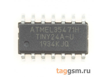 ATtiny24A-SSU (SO-14) Микроконтроллер 8-Бит, AVR