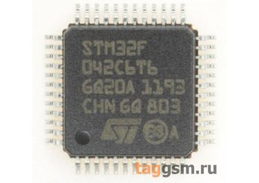 STM32F042C6T6 (LQFP-48) Микроконтроллер 32-Бит, ARM Cortex-M0